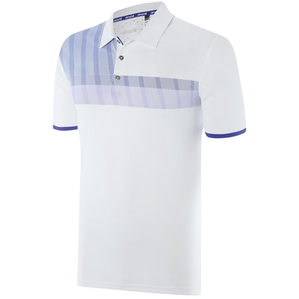 Áo golf nam Adidas Golf ClimaChill Merch Stripe Polo