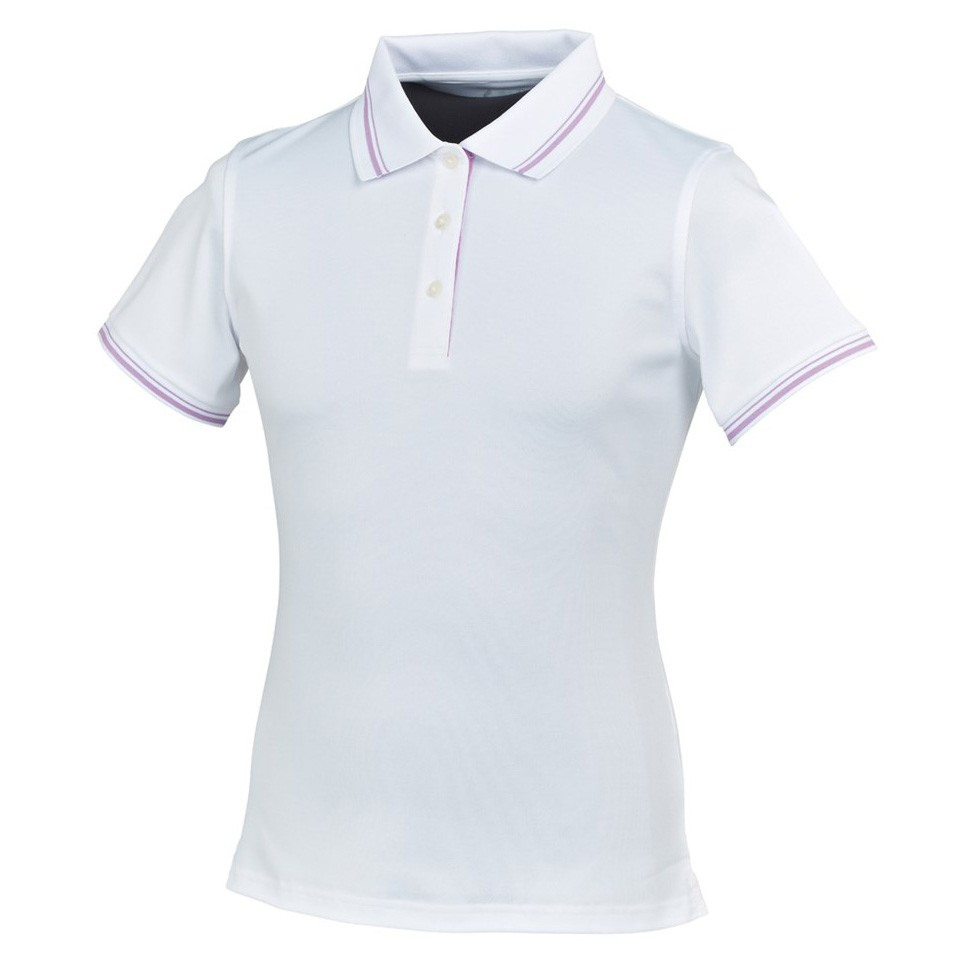 Áo golf nữ FootJoy Stretch Pique w/double stripe - 3 button placket