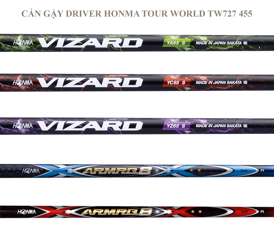 Gậy golf Driver Honma Tour World TW727 455