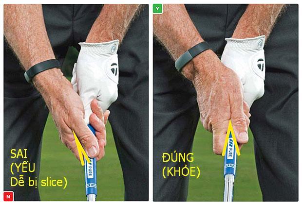 Vị trí grip trên gậy golf