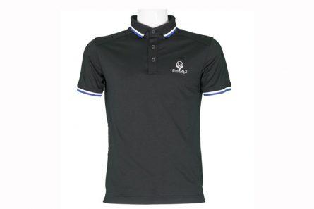 Áo golf Charly cộc tay 1 màu đen CHL-ACT1M-DEN