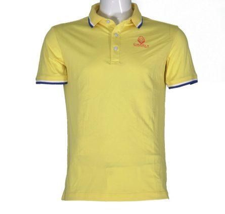 Áo golf Charly cộc tay màu vàng CHL-ACT1M-V