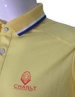 Áo cộc tay Charly màu vàng có gân CHL-ACT1MG-V