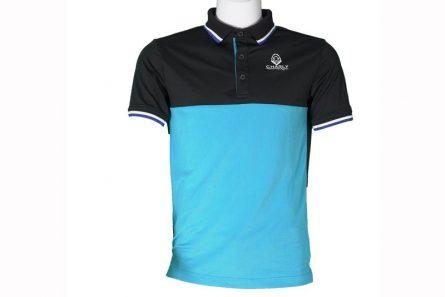Áo golf Charly cộc tay phối màu đen - xanh dương | CHL-ACTPM-DXD