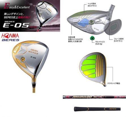 Gậy golf Driver Honma Beres E-05 Lady 5 sao