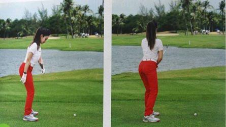 ĐÚNG: Giữ cho cổ tay và bàn tay trái hầu như hướng vào trong từ đầu đến cuối cú đánh (ảnh minh họa)