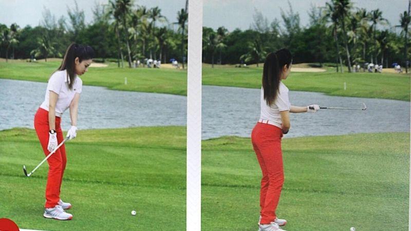 SAI: Gập cổ tay trái khi tiếp bóng chơi golf và ngửa bàn tay trái khi hoàn tất cú đánh (ảnh minh họa)