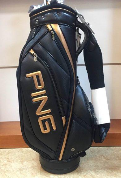 Túi golf Ping màu đồng/đen sang trọng, đẳng cấp