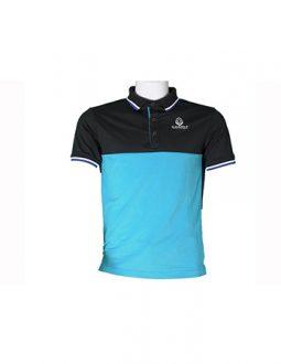 Áo golf Charly cộc tay phối màu đen, xanh dương | CHL-ACTPM-DXD
