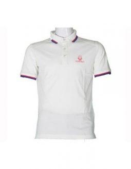 Áo golf Charly cộc tay trắng có gân CHL-ACT1MG-T