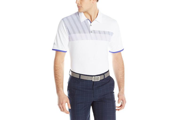 Mẫu áo Adidas Golf ClimaChill Merch Stripe Polo