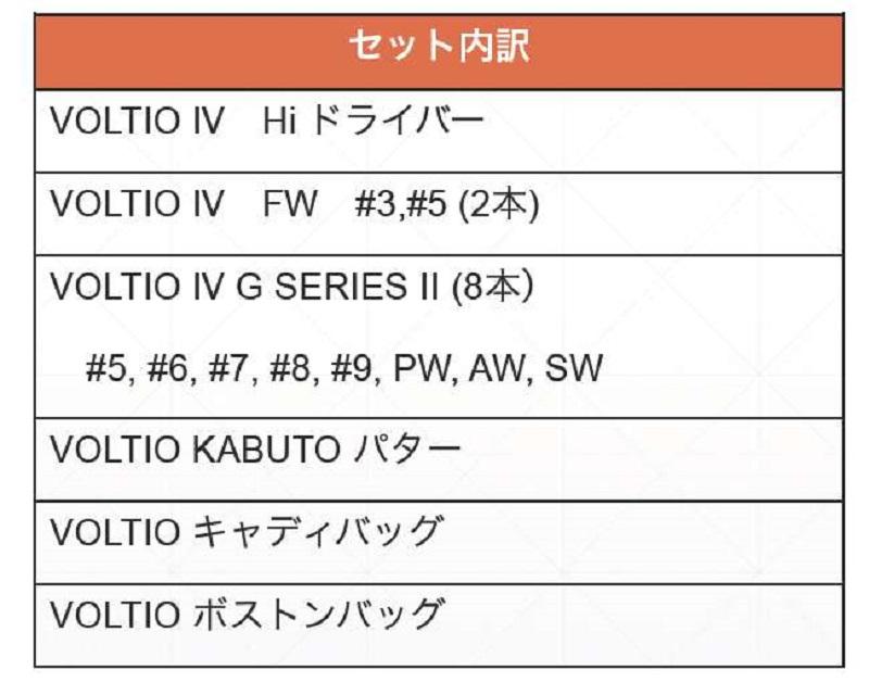 Full set Katana Voltio IV