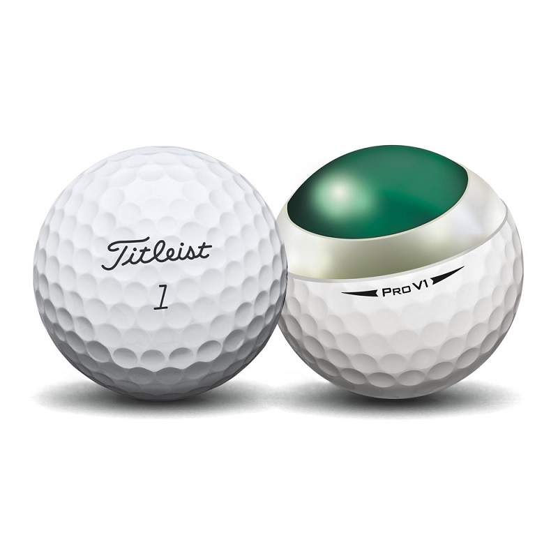 Bóng golf Titleist Pro V1 2017 với thiết kế 352 vết lõm