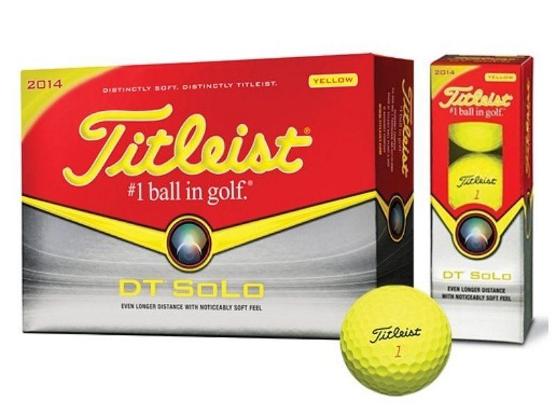 Bóng golf Titleist DT Solo màu vàng