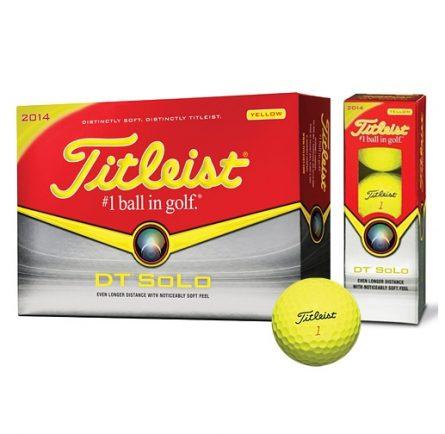 Bóng đánh golf Titleist DT Solo màu vàng