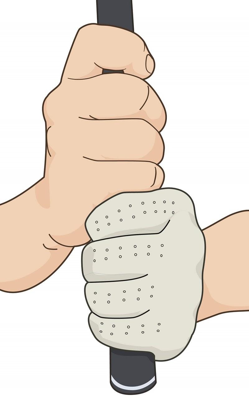 Cách cầm gậy golf kiểu 10 Finger Grip