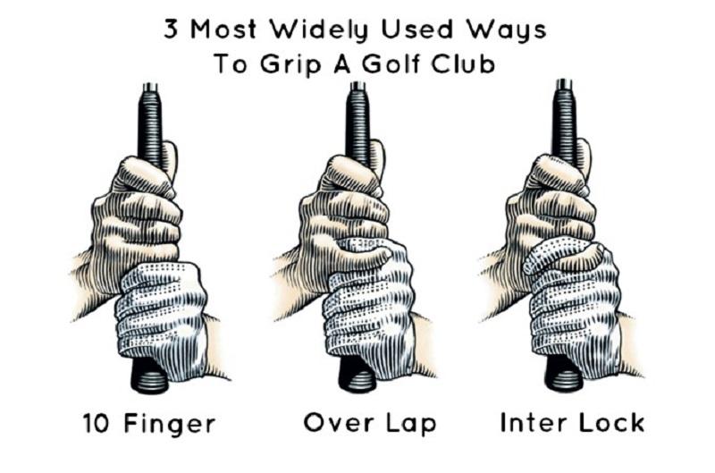 3 cách cầm gậy golf phổ biến hiện nay