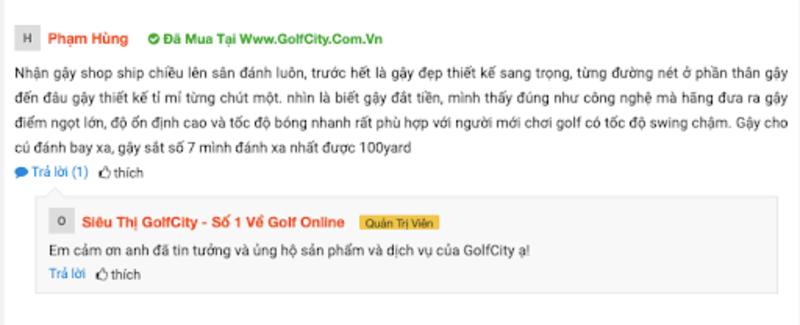 Chia sẻ của Golfer Phạm Hùng về gậy XXIO MP1000