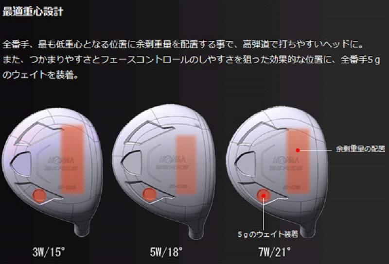 Gậy đánh golf Fairway Honma Beres S-03 3 sao phù hợp với nhiều đối tượng khác nhau