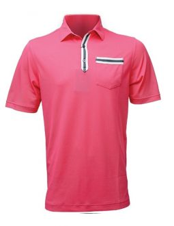 Áo golf nam FootJoy Solid Stripe Placket
