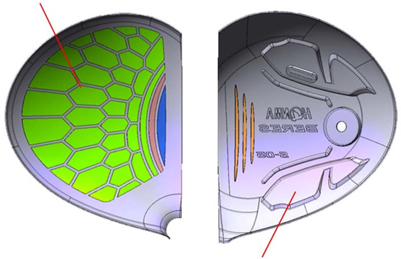 Honma 2 Sao S05 được thiết kế với mặt gậy diện tích rộng