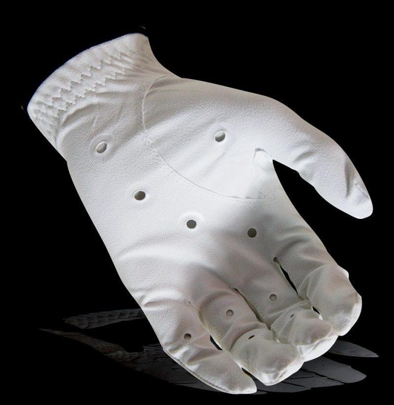 Găng tay golf Handee được thiết kế với gam màu trắng chủ đạo