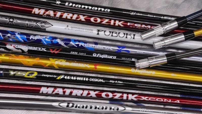 Shaft gậy golf được sử dụng chất liệu Graphite rất phổ biến