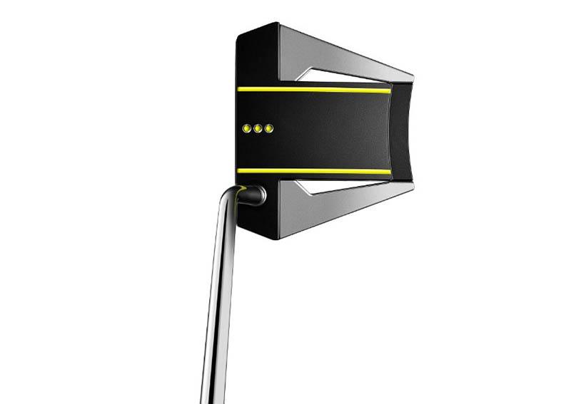 Gậy putter Titleist Scotty Cameron Phantom X7.5 được thiết lớp sơn đen phối vàng neon tinh tế