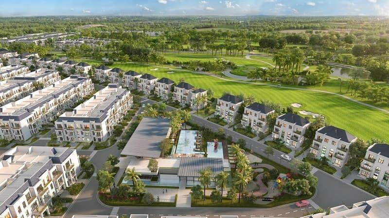 Hệ thống 500 villas đạt tiêu chuẩn quốc tế được xây dựng xung quanh sân golf nhằm phục vụ nhu cầu tham quan, nghỉ dưỡng và vui chơi của du khách