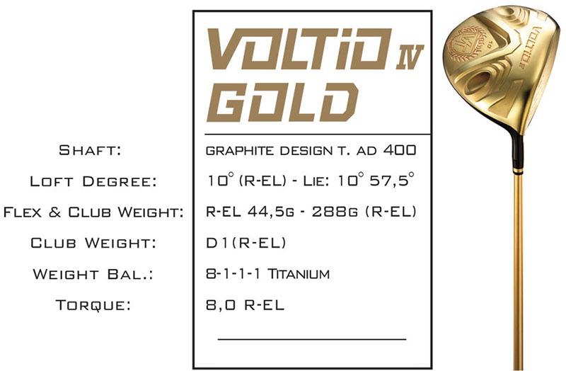 Gậy Driver Katana Voltio Gold