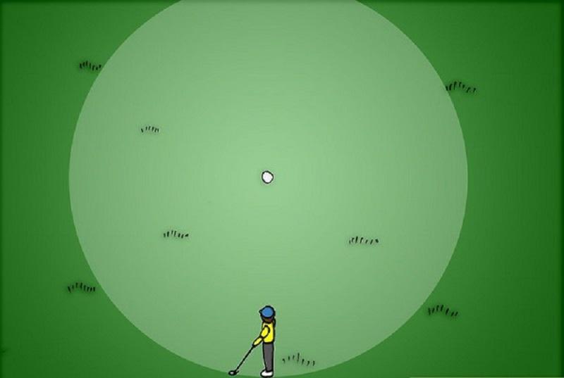 Cần hoàn thiện kỹ thuật gạt bóng golf tại các vị trí trên sân