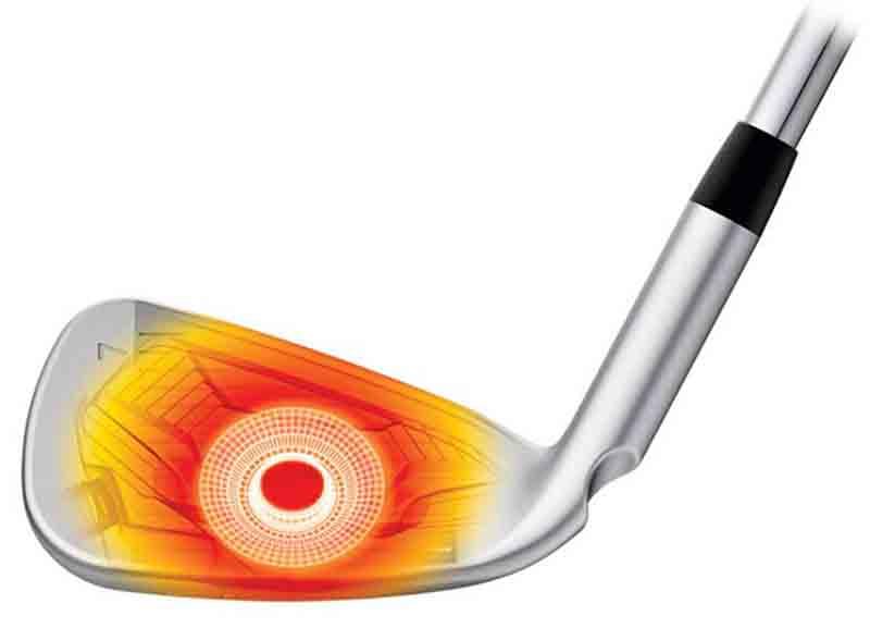 Với thiết kế độc đáo iron set ping g410 nằm bên trong mặt gậy, thiết kế xếp tầng cho cú đánh có hiệu suất cao hơn