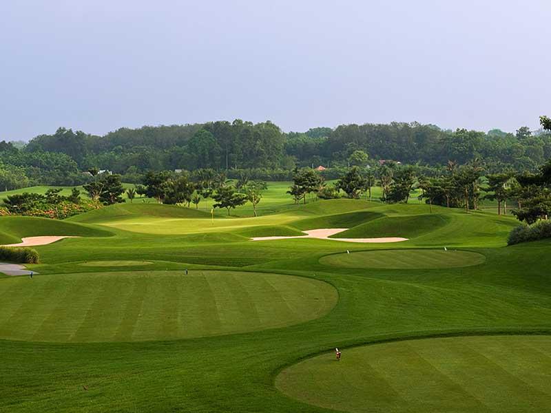 Sân golf có thiết kế địa hình đặc biệt ấn tượng