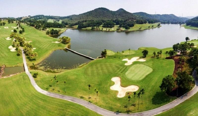 Sân golf Đại Lải sở hữu không gian tuyệt đẹp