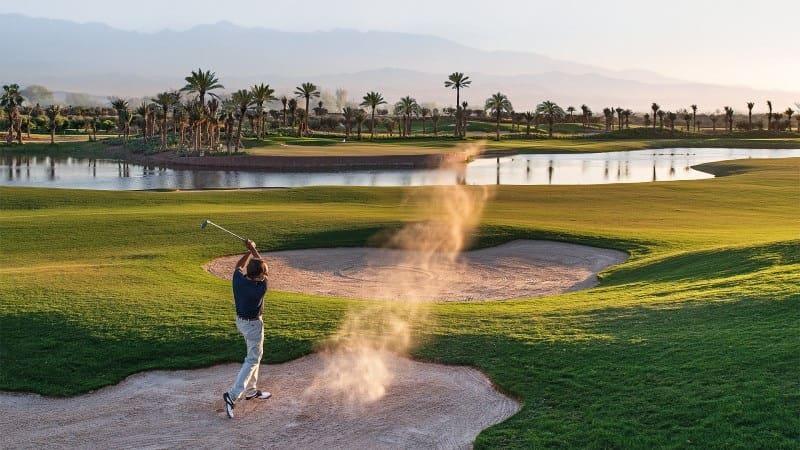Sân golf có quy mô rộng lớn, diện tích trên 200 ha với hơn 54 lỗ golf và có 18 lỗ đã đi vào hoạt động
