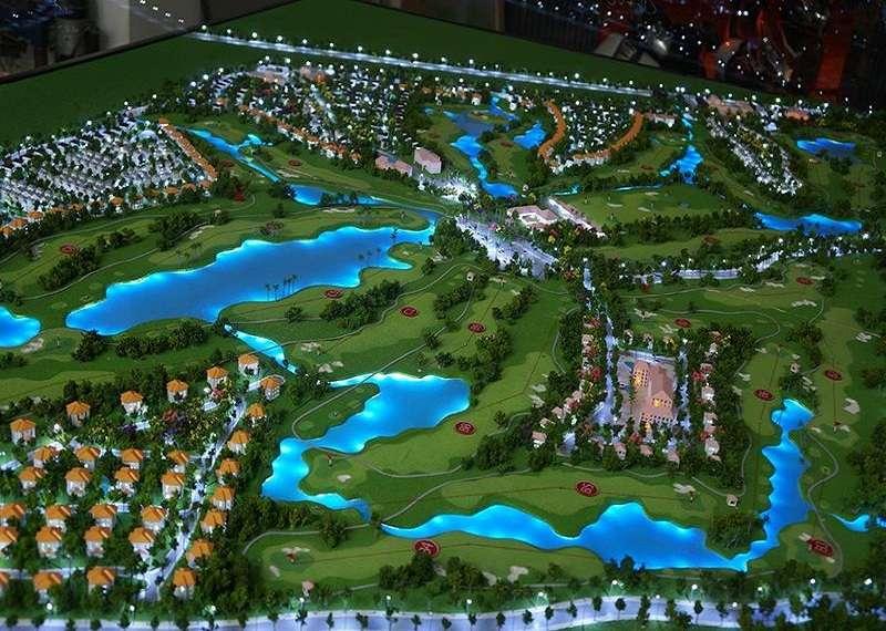 Mô hình thiết kế sân golf Tân Mỹ