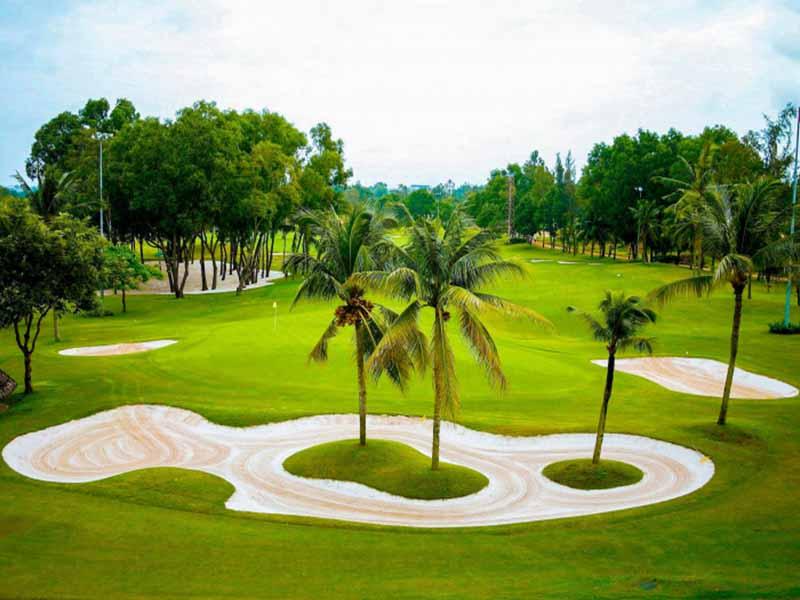 Sân golf có địa hình khá độc đáo