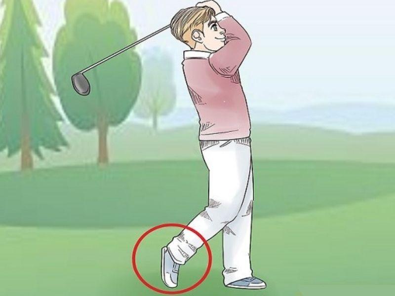 Chú ý phần chân sau khi đánh bóng