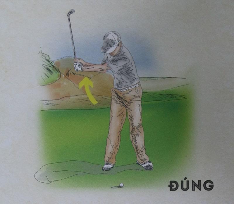 Cách chuyển chuẩn từ backswing sang downswing bằng gậy sắt