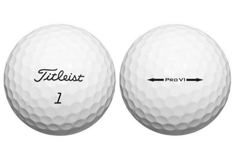 Bóng golf đến từ Titleist điển hình với thiết kế mắt bóng hình tứ diện đều