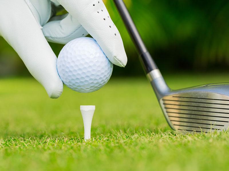 Tee golf là thiết bị phụ trợ cần thiết khi golfer ra sân