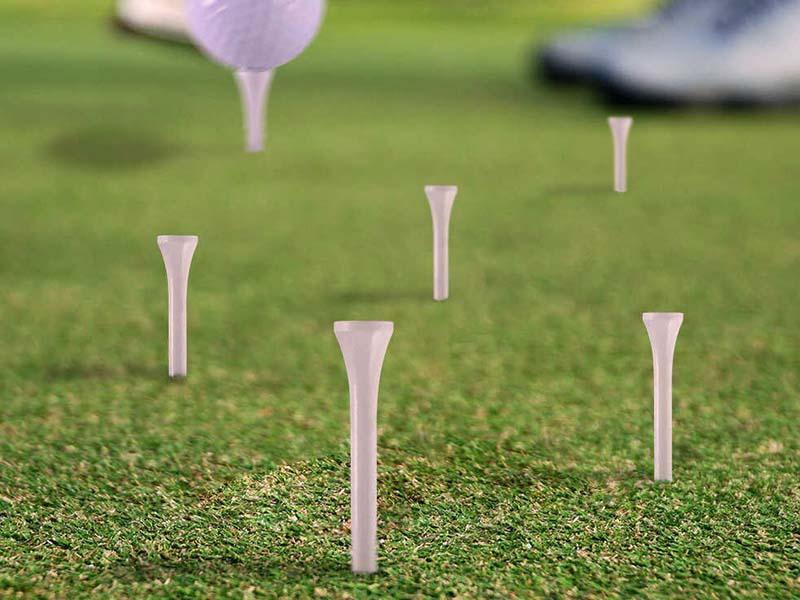 Sản phẩm giúp cố định bóng golf để người chơi có cú đánh chính xác nhất