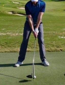 vị trí thích hợp để đặt bóng golf