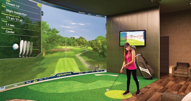 Hình ảnh sân golf 3D trong nhà