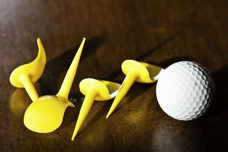 Hình dáng đặc trưng của tee trong golf Anti-slice Tee