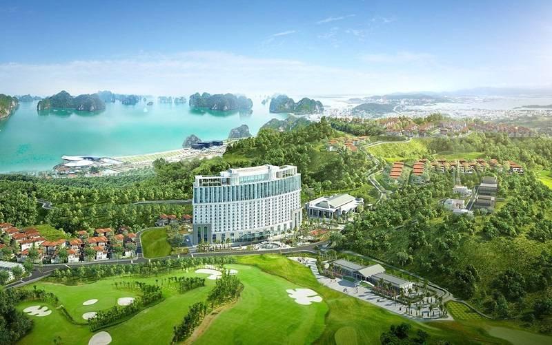 Sân golf FLC Quảng Ninh nhìn từ trên cao