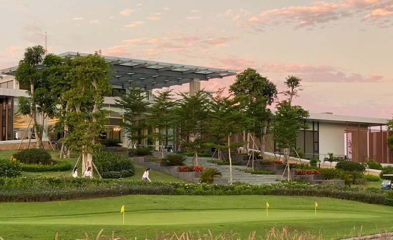 Cỏ lau Mỹ là điểm nhấn nổi bật tại sân golf Diễn Lâm