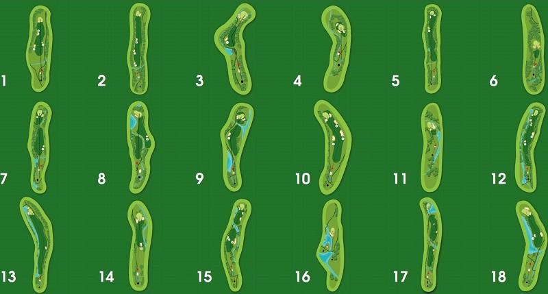 Bản đồ các hố golf