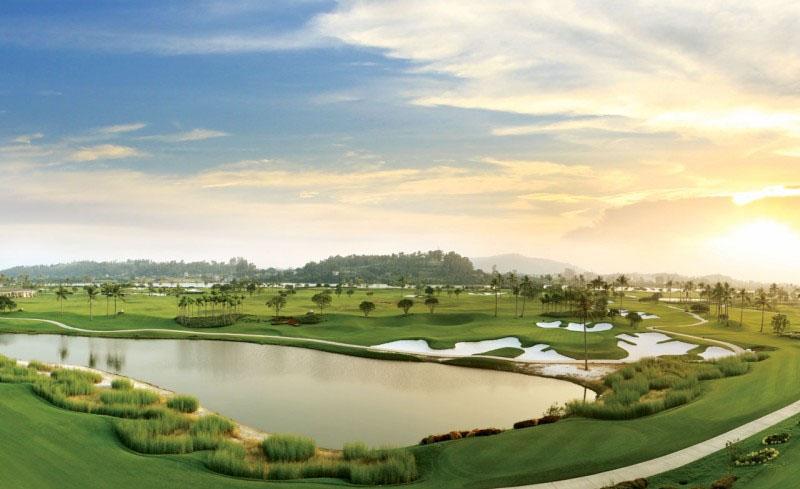 Sân golf Sông Giá Hải Phòng từ góc nhìn toàn cảnh.