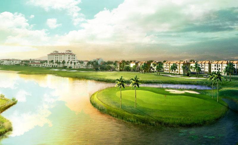 Cảnh sắc trong trẻo của sân golf Sông Giá
